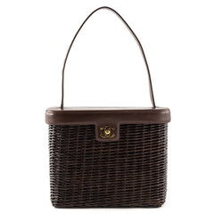 Chanel Brown Wicker Picnic Bag - 1