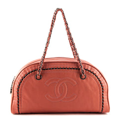 Chanel Coral Lambskin Luxe Ligne Bowler Bag - 1