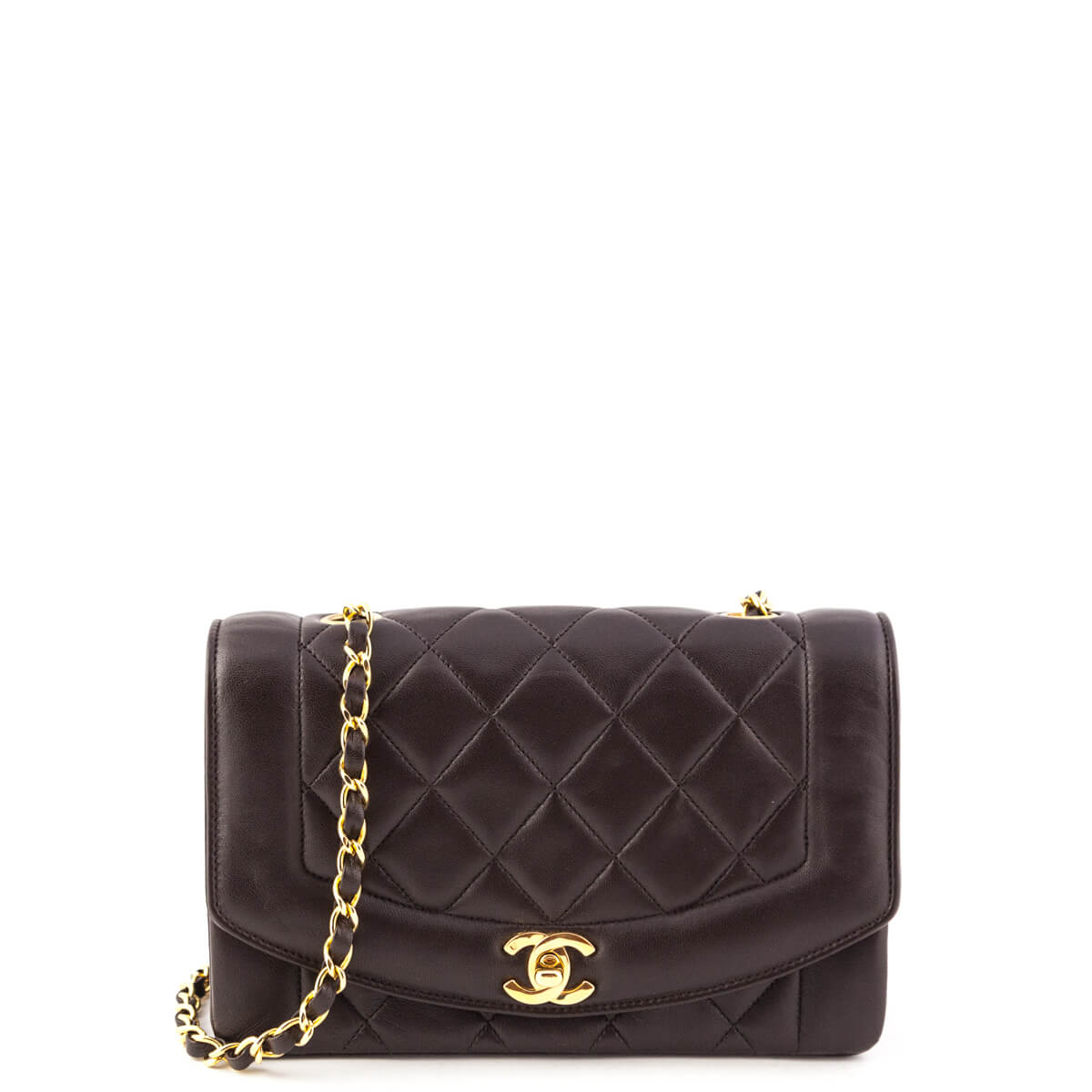 d01b76dbb980 Chanel Dark Brown Lambskin Vintage Single Flap Bag GHW - LOVE that BAG -  Preowned Authentic ...