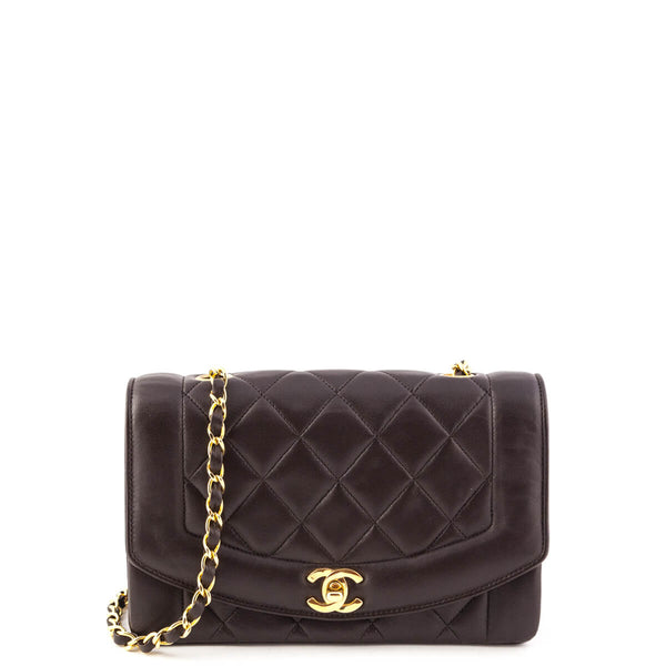 2879a6e250d3 Chanel Dark Brown Lambskin Vintage Single Flap Bag GHW - LOVE that BAG -  Preowned Authentic