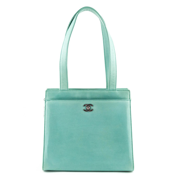 Chanel Green Mint Caviar Vintage Executive Tote - LOVE that BAG - Preowned  Authentic Designer Handbags 9443485a55910
