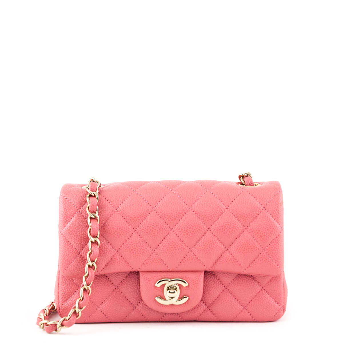 b21689f09dfd Chanel Pink Quilted Caviar Mini Flap Bag GHW - LOVE that BAG - Preowned  Authentic Designer ...