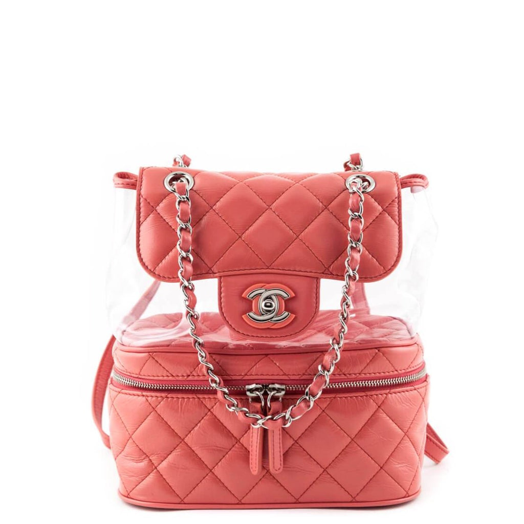 2d72d9ad5425 Chanel Pink Quilted Lambskin 2018 Aquarium Backpack - LOVE that BAG - Preowned  Authentic Designer Handbags