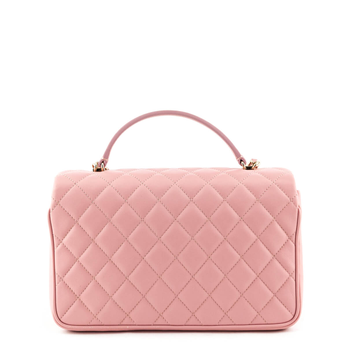 edd82b18b8c037 ... Chanel Pink Quilted Lambskin Top Handle Flap Bag - LOVE that BAG -  Preowned Authentic Designer ...