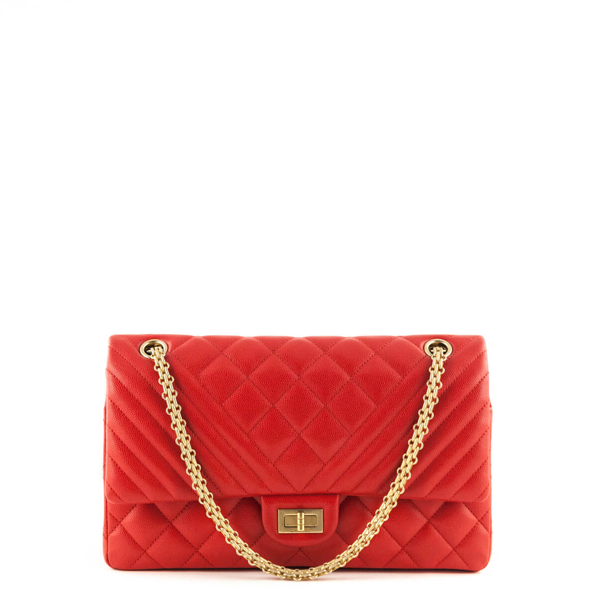 a61d1f90aa81 Chanel Red Caviar Bi-Quilted Double Flap Reissue 226 GHW - LOVE that BAG ...