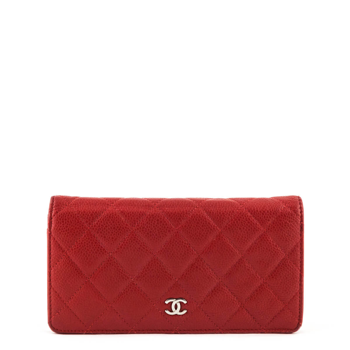 2fac215e9cc6 Chanel Red Caviar Bifold Yen Wallet - LOVE that BAG - Preowned Authentic  Designer Handbags ...