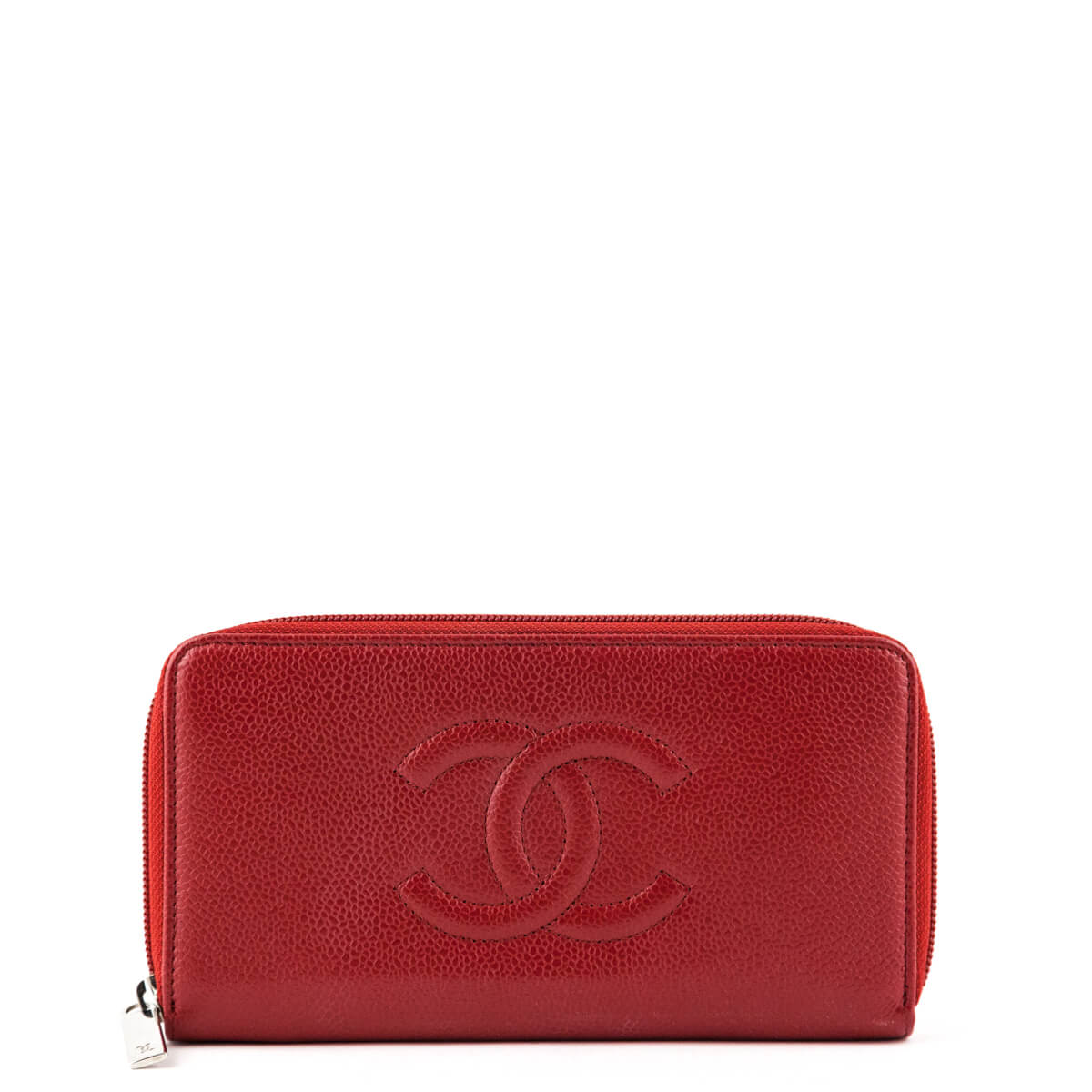 c3dabe47b47484 Chanel Red Caviar CC Timeless Large Gusset Zip Around Wallet - LOVE that  BAG - Preowned ...