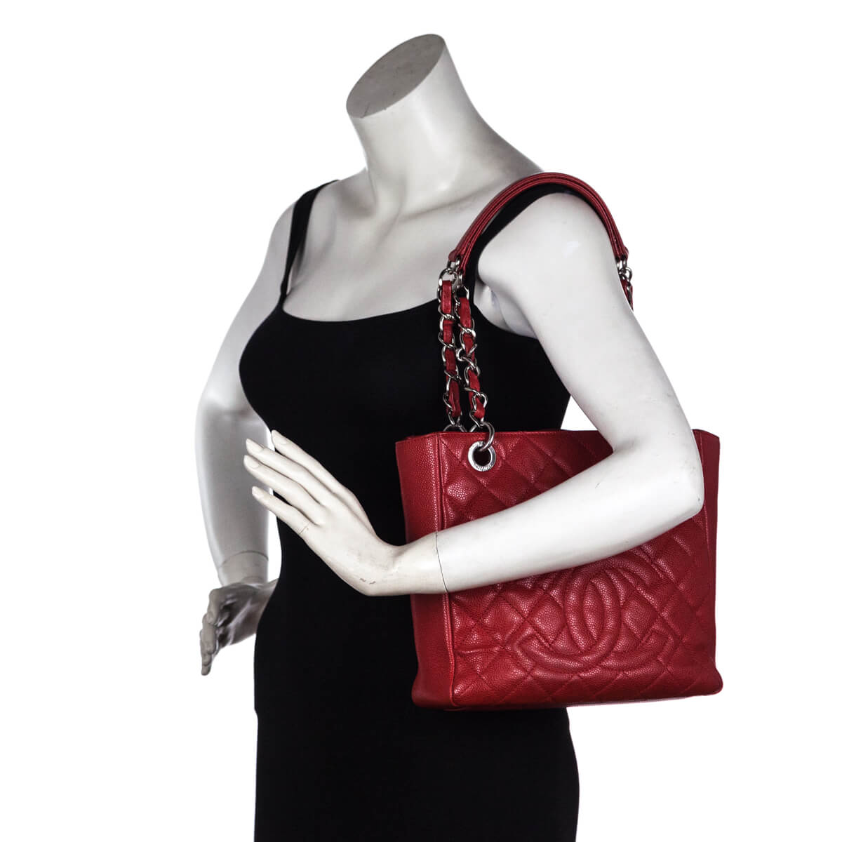 d4d58f57eace6 ... Chanel Red Caviar Petit Shopping Tote SHW - LOVE that BAG - Preowned  Authentic Designer Handbags
