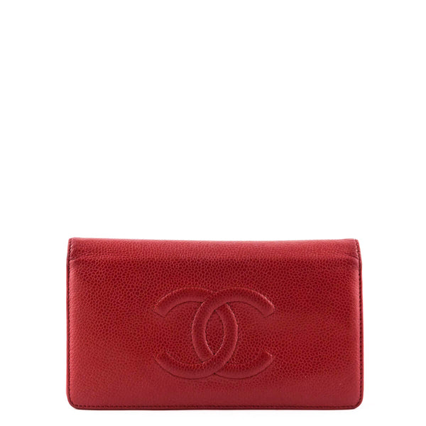 fb91e9bb87ec Chanel Red Caviar Timeless CC Yen Wallet - Chanel Accessories