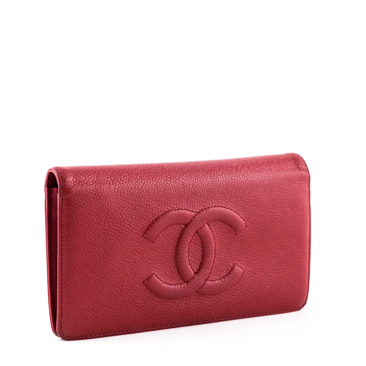 3746174781e1 ... Chanel Red Caviar Timeless CC Yen Wallet - LOVE that BAG - Preowned  Authentic Designer Handbags ...