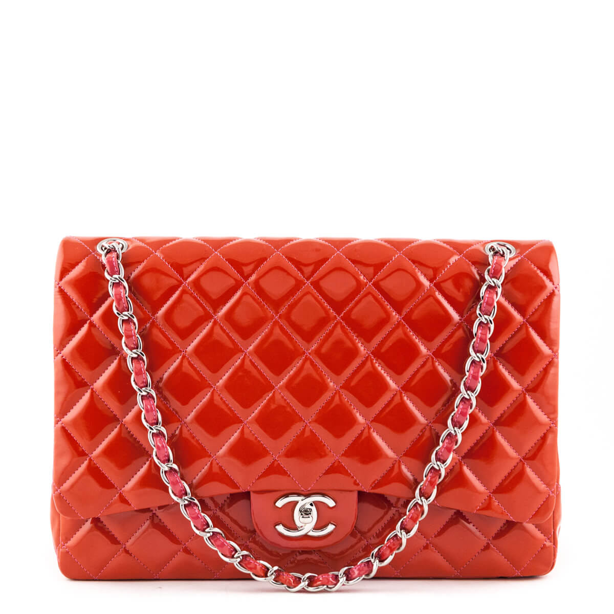 0b705764ee32 Chanel Red Patent Classic Maxi Flap Bag SHW - LOVE that BAG - Preowned  Authentic Designer ...