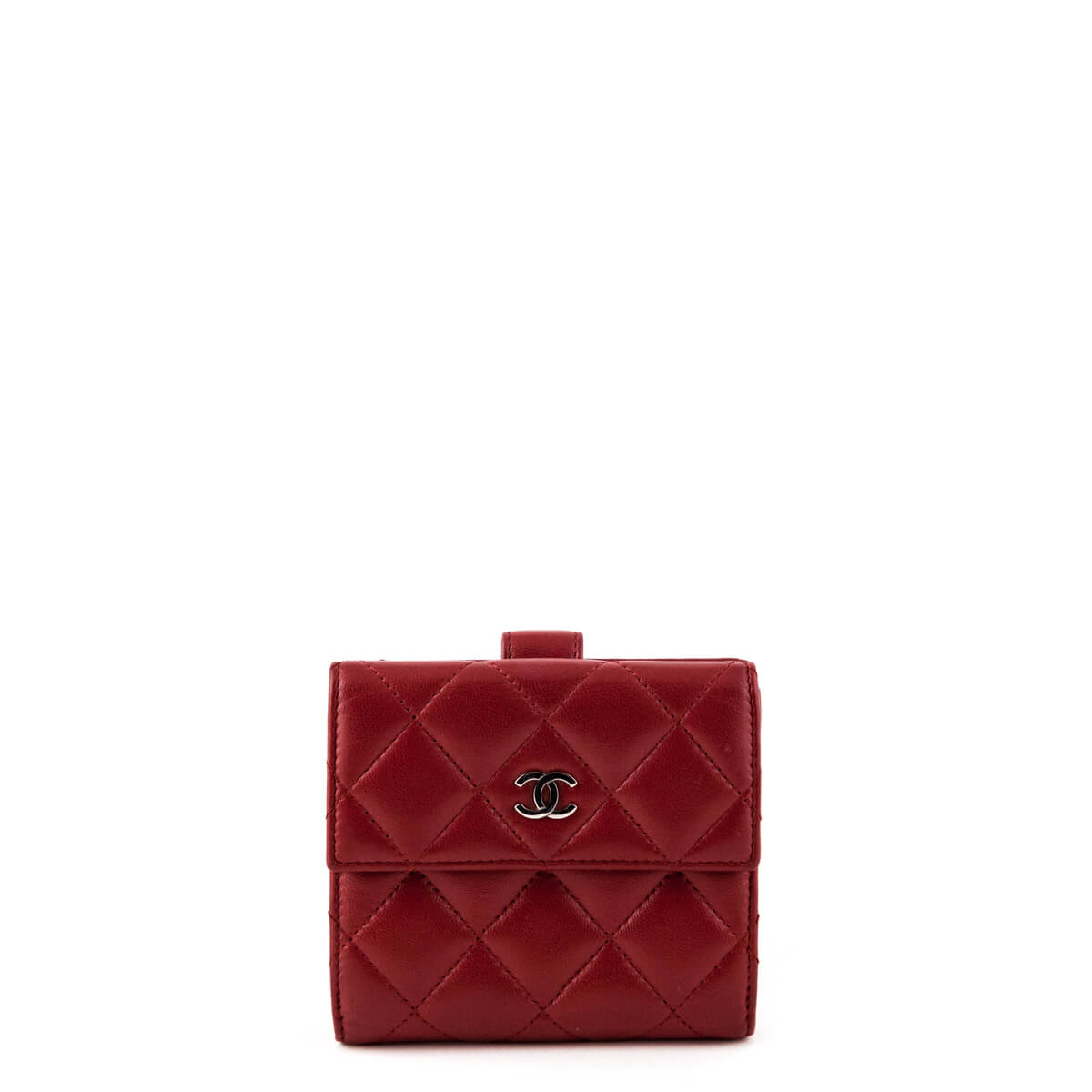 a44a62ce8f08 Chanel Red Quilted Lambskin Classic Compact Wallet - LOVE that BAG -  Preowned Authentic Designer Handbags ...