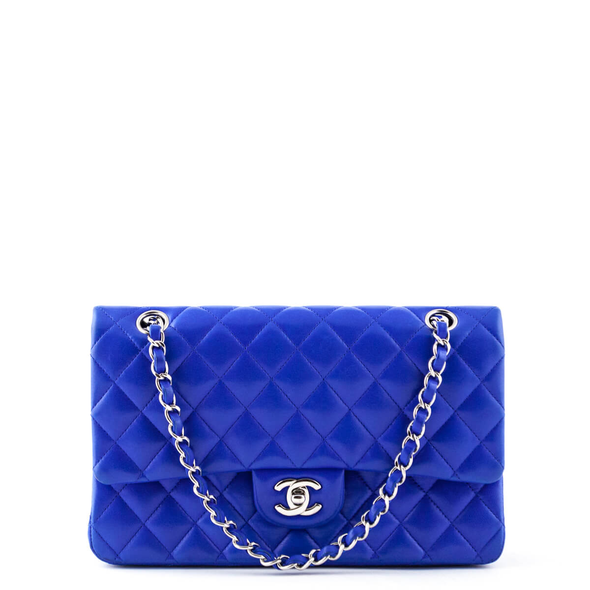 d9674c04c4f53a Chanel Royal Blue Lambskin Medium Classic Double Flap - LOVE that BAG -  Preowned Authentic Designer ...