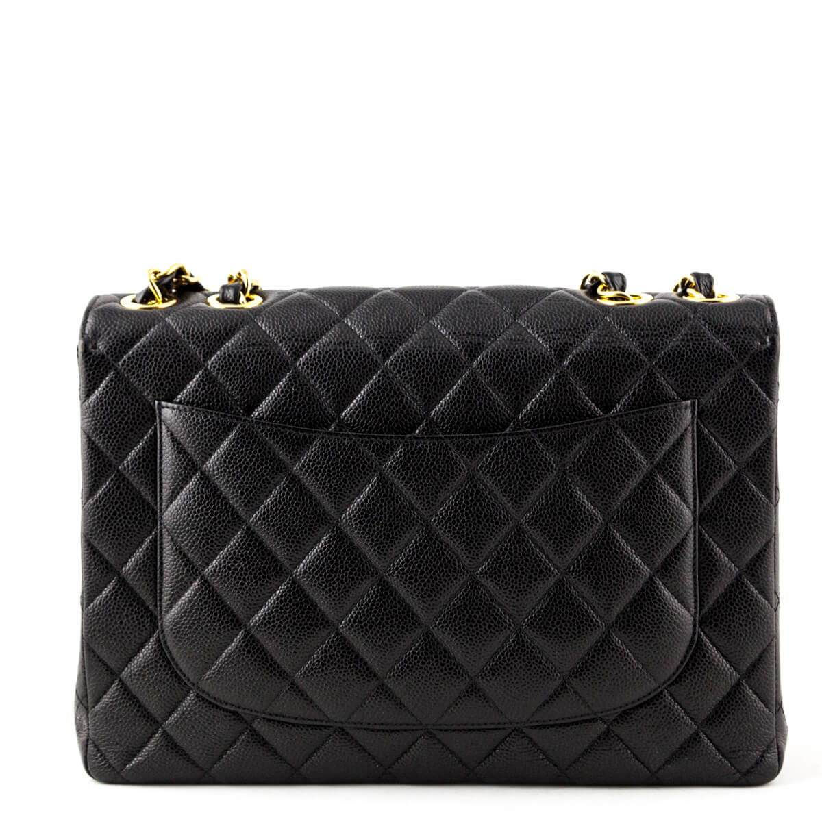 be6b96bef9e ... Chanel Vintage Black Caviar Jumbo Classic Flap Bag - LOVE that BAG -  Preowned Authentic Designer ...