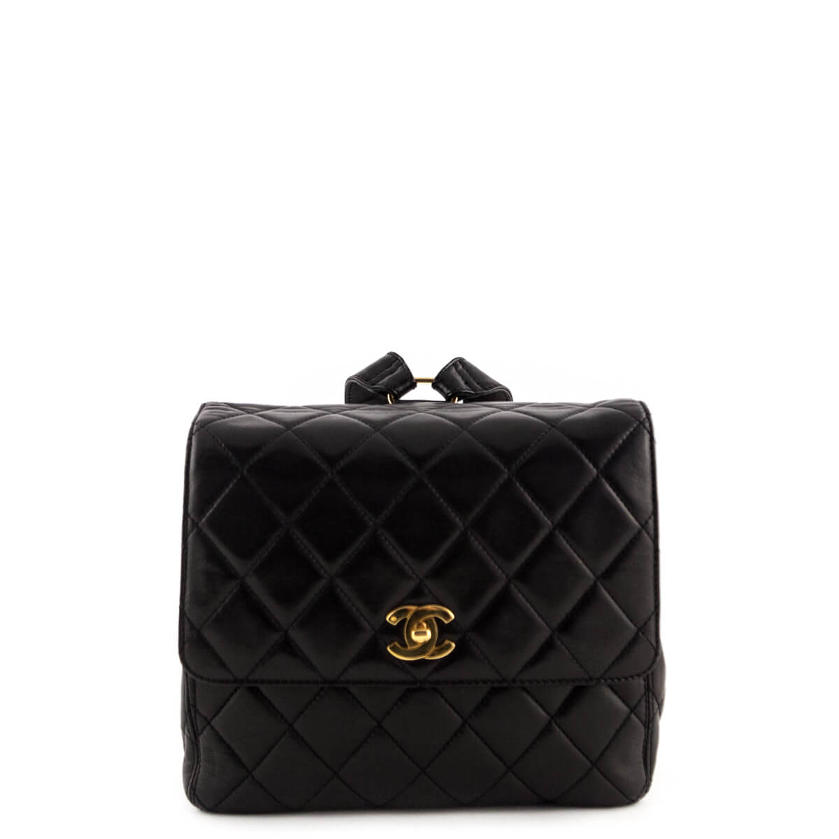 e3d5935ab2ba Chanel Black Quilted Lambskin Vintage Backpack - LOVE that BAG - Preowned  Authentic Designer Handbags ...