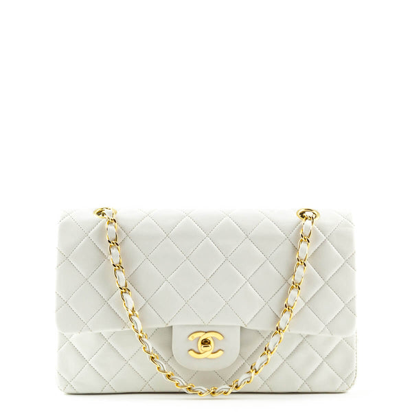 Chanel White Lambskin Medium Classic Double Flap GHW - LOVE that BAG - Preowned  Authentic Designer 9fe9c2d9cd52c