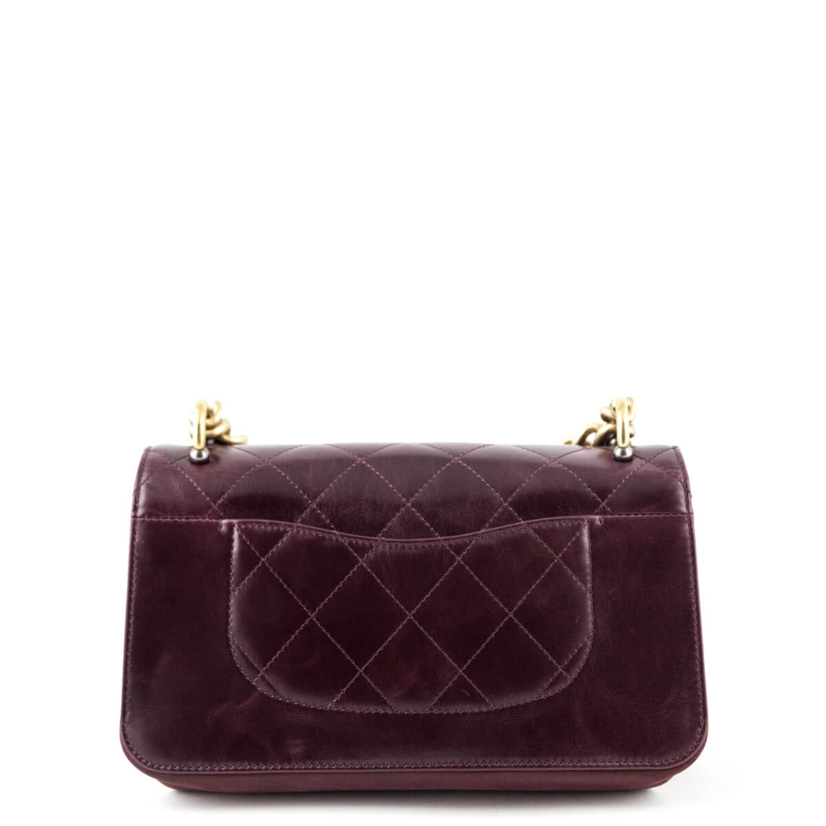 a771eebd00c9 ... Chanel Wine Calfskin Small Straight-Lined Flap Bag - LOVE that BAG -  Preowned Authentic ...