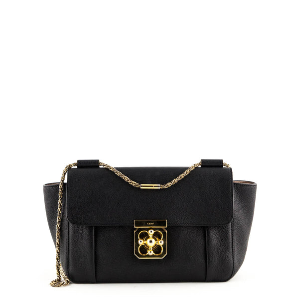 Chloe Black Goatskin Medium Elsie Bag - LOVE that BAG - Preowned Authentic Designer  Handbags 7363c5791d090