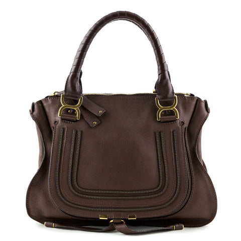 Chloe Chocolate Calfskin Medium Marcie