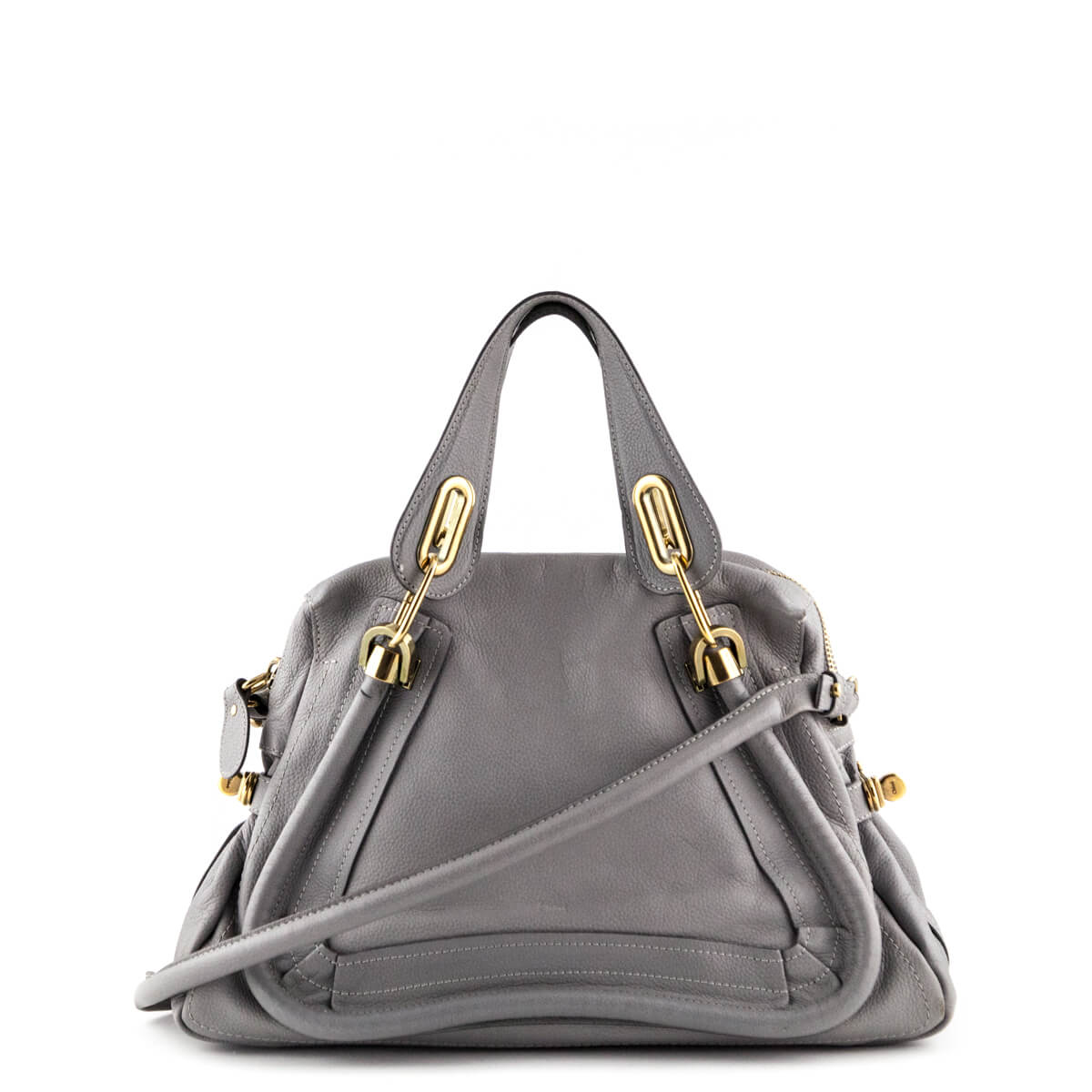 af4f4462d408 Chloe Gray Medium Paraty Shopper Tote - LOVE that BAG - Preowned Authentic  Designer Handbags ...