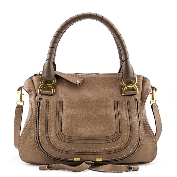 98f4d310ba7 Chloe Nut Calfskin Medium Marcie Satchel - LOVE that BAG - Preowned  Authentic Designer Handbags