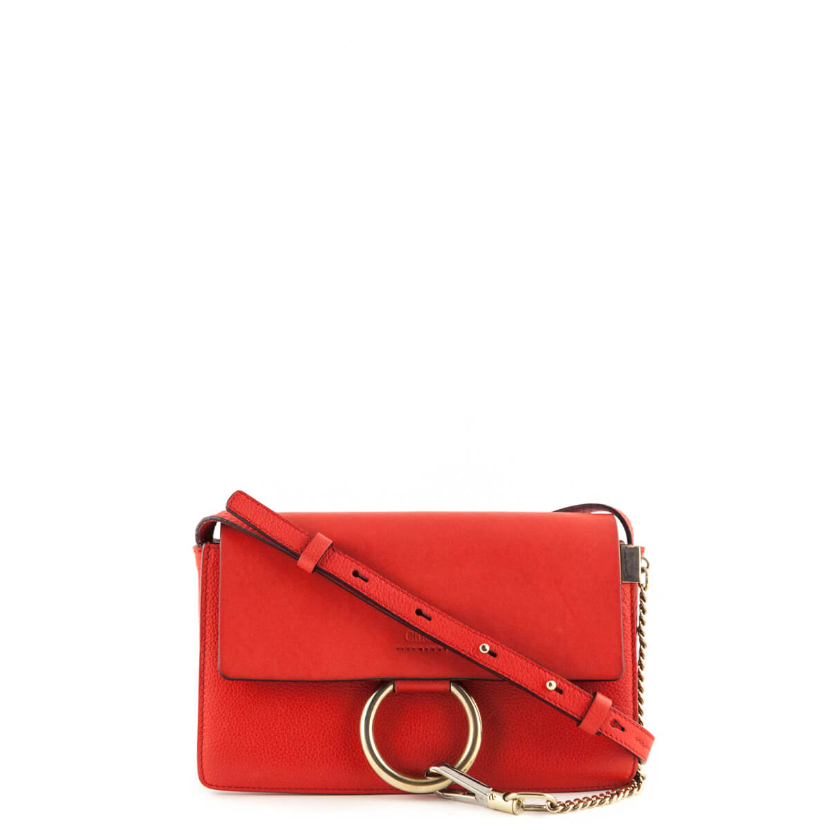 Chloe Red Calfskin   Lambskin Small Faye - LOVE that BAG - Preowned  Authentic Designer Handbags ... d2c2af54bbbc6