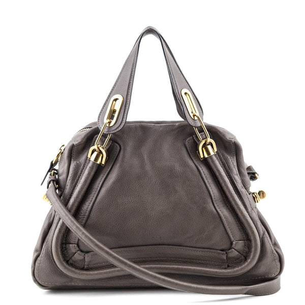 7f4924f6cd Chloe Rock Pebble Leather Medium Paraty Satchel - LOVE that BAG - Preowned  Authentic Designer Handbags