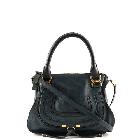 Chloe Teal Calfskin Medium Marcie