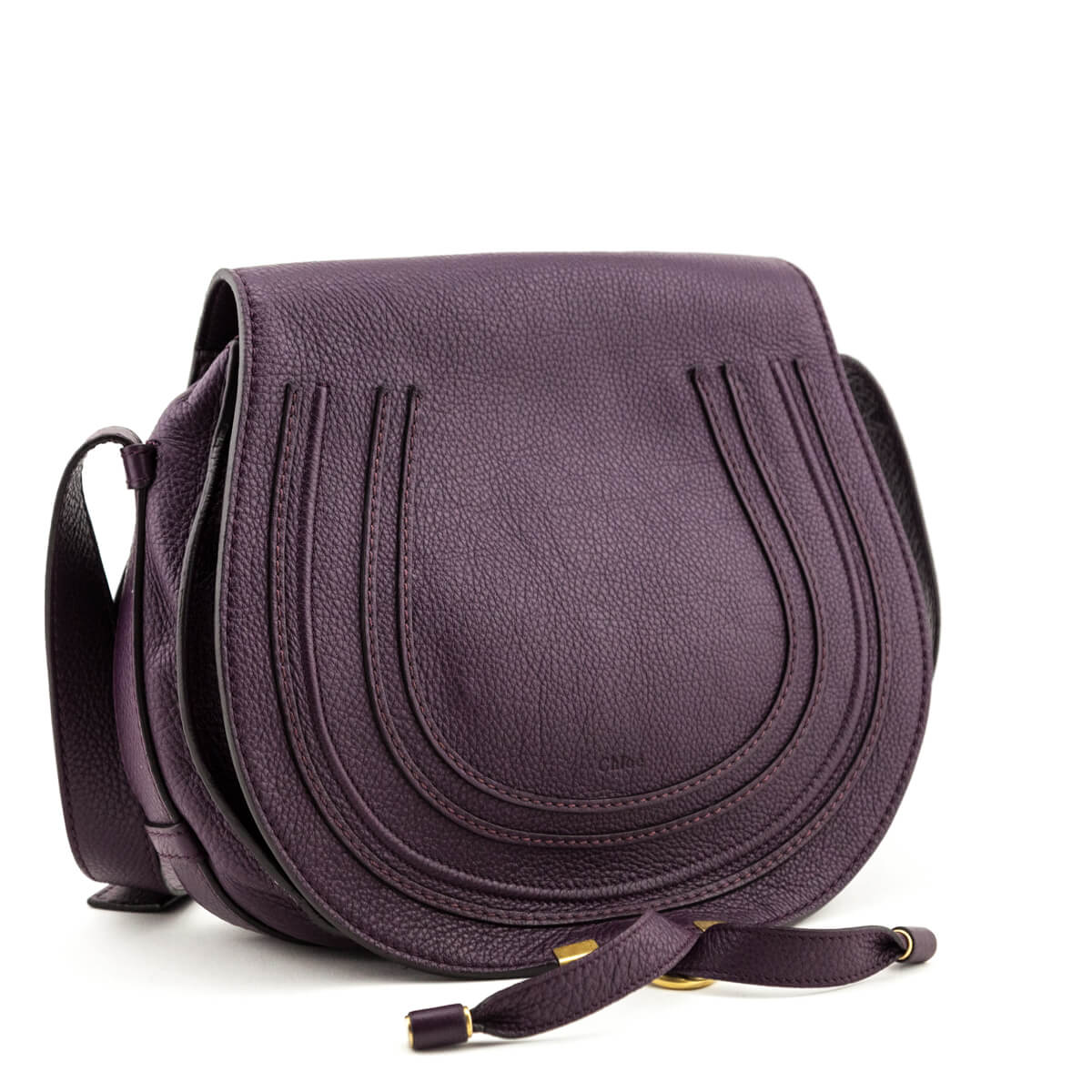 special promotion enjoy big discount top-rated quality Chloe Grape Pebbled Calfskin Medium Marcie Crossbody