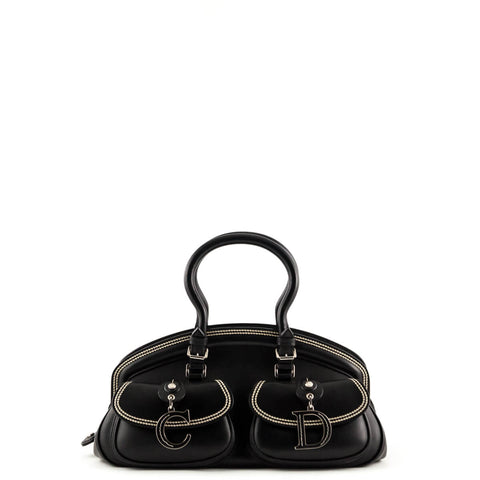 Christian Dior Black Calfskin My Dior Top Handle