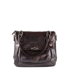 Coach Reptile Embossed Kristin Pinnacle Bag