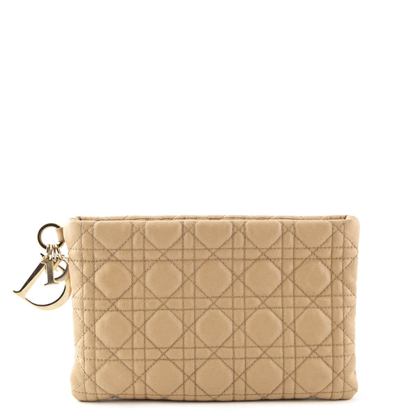 9f941a0d7bcf Dior Beige Cannage Coated Canvas Panarea Clutch - LOVE that BAG - Preowned  Authentic Designer Handbags