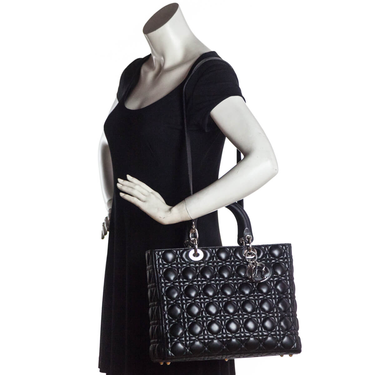 ... Dior Black Cannage Lambskin Large Lady Dior - LOVE that BAG - Preowned  Authentic Designer Handbags ce5d9866d4ab1