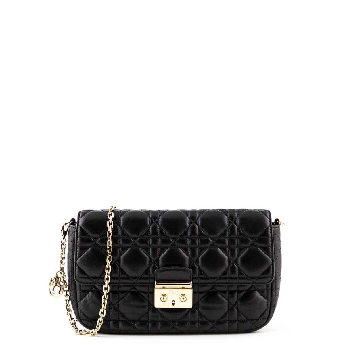 a2619bd146 Dior Black Cannage Lambskin Miss Dior Promenade Pouch Bag - LOVE that BAG -  Preowned Authentic ...