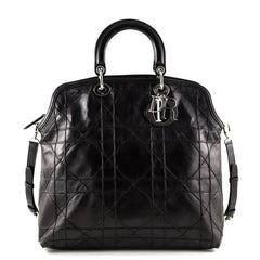 Dior Black Cannage Quilted Granville Tote - 1