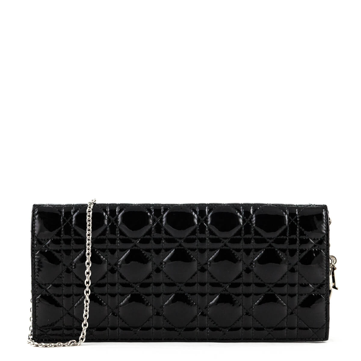 12c1be431a9fda Dior Black Patent Cannage Lady Dior Convertible Clutch - LOVE that BAG -  Preowned Authentic Designer ...