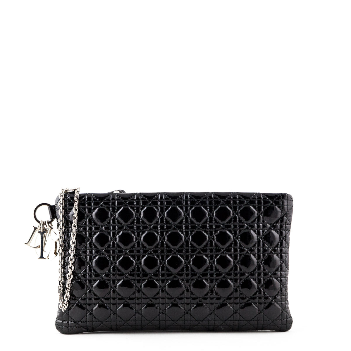 Dior Black Patent Cannage Large Clutch - LOVE that BAG - Preowned Authentic  Designer Handbags ... 31846eb489