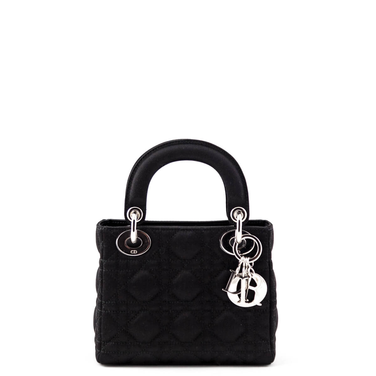 b9c41b2140b Dior Black Satin Cannage Mini Lady Dior Bag - LOVE that BAG - Preowned  Authentic Designer ...