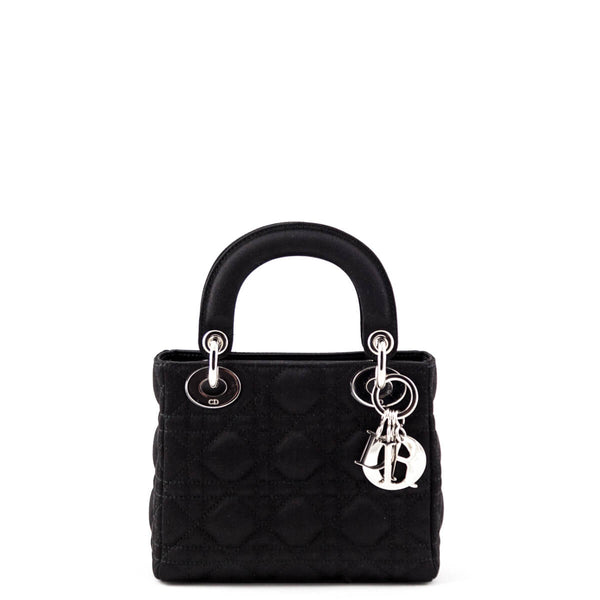 Dior Black Satin Cannage Mini Lady Dior Bag - LOVE that BAG - Preowned  Authentic Designer 96d3f648aa117