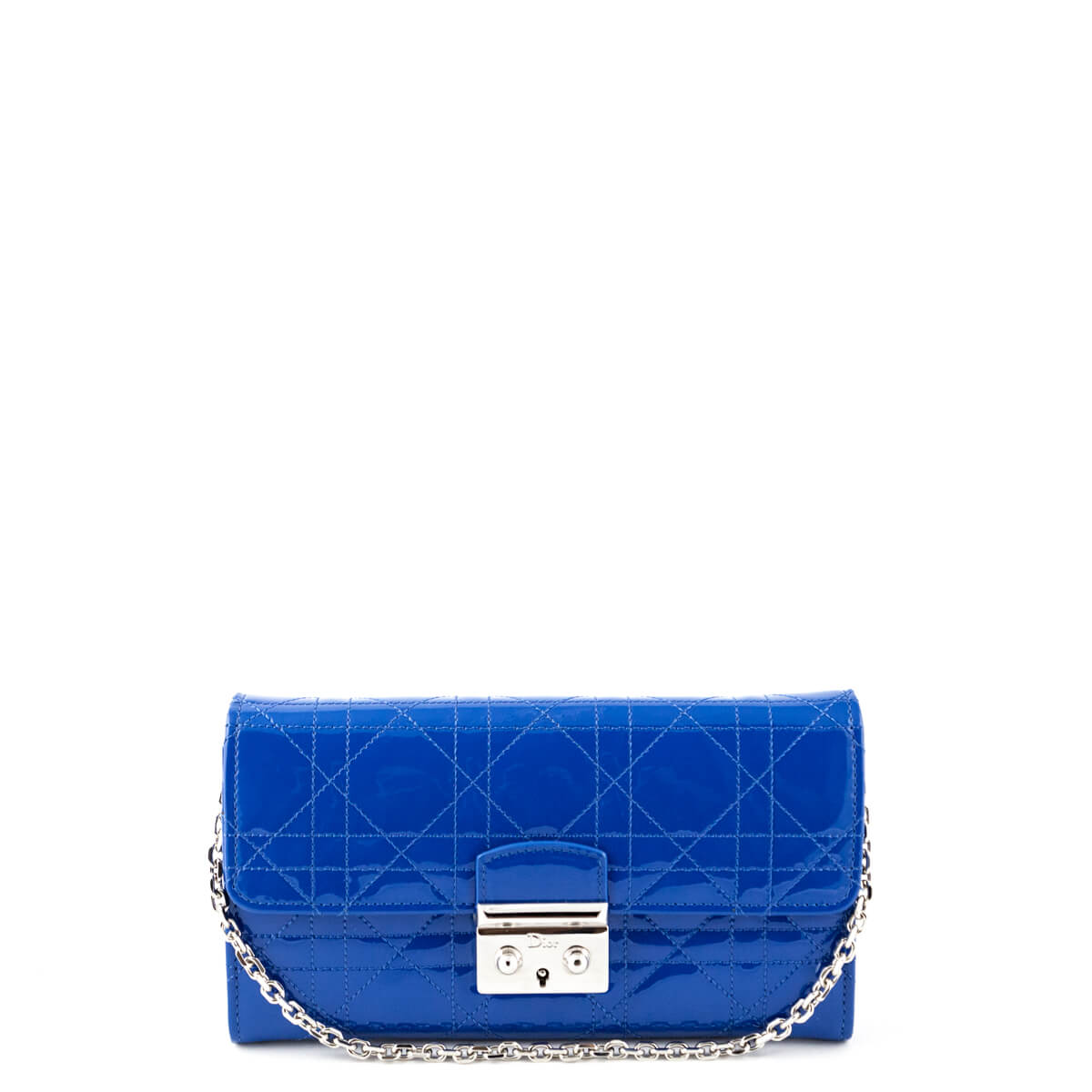 Dior Blue Cannage Patent Miss Dior Wallet on Chain - LOVE that BAG -  Preowned Authentic ... 3b921645d0638