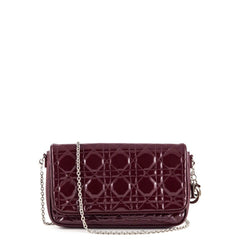 Dior Burgundy Patent Cannage Lady Dior Evening Bag - 1