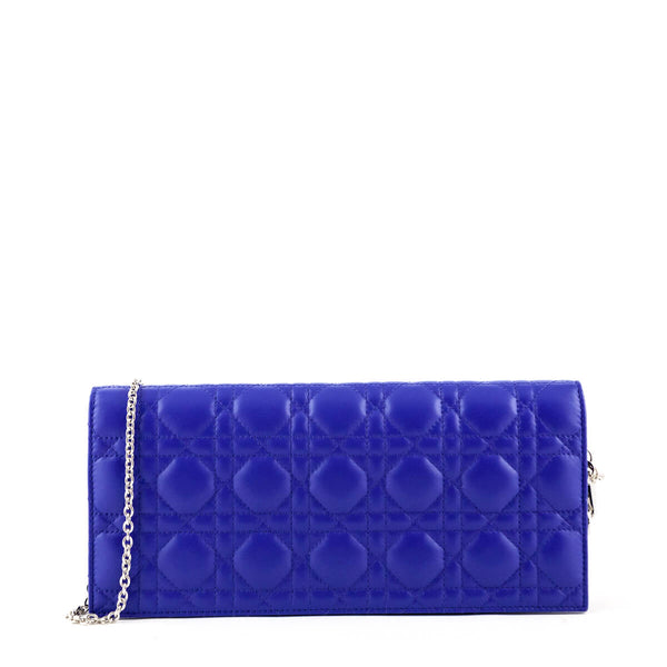 56df940ce Dior Electric Blue Cannage Calfskin Lady Dior Evening Bag - LOVE that BAG -  Preowned Authentic