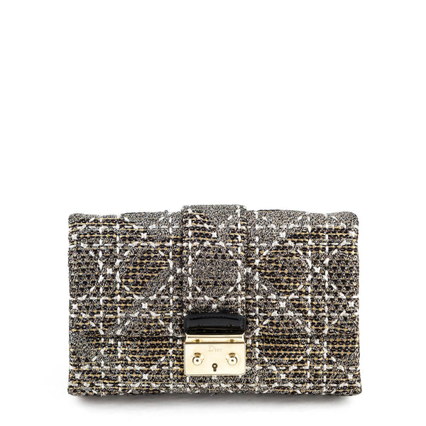 852a7c5820 Dior Metallic Cannage Tweed Miss Dior Clutch - LOVE that BAG - Preowned  Authentic Designer Handbags