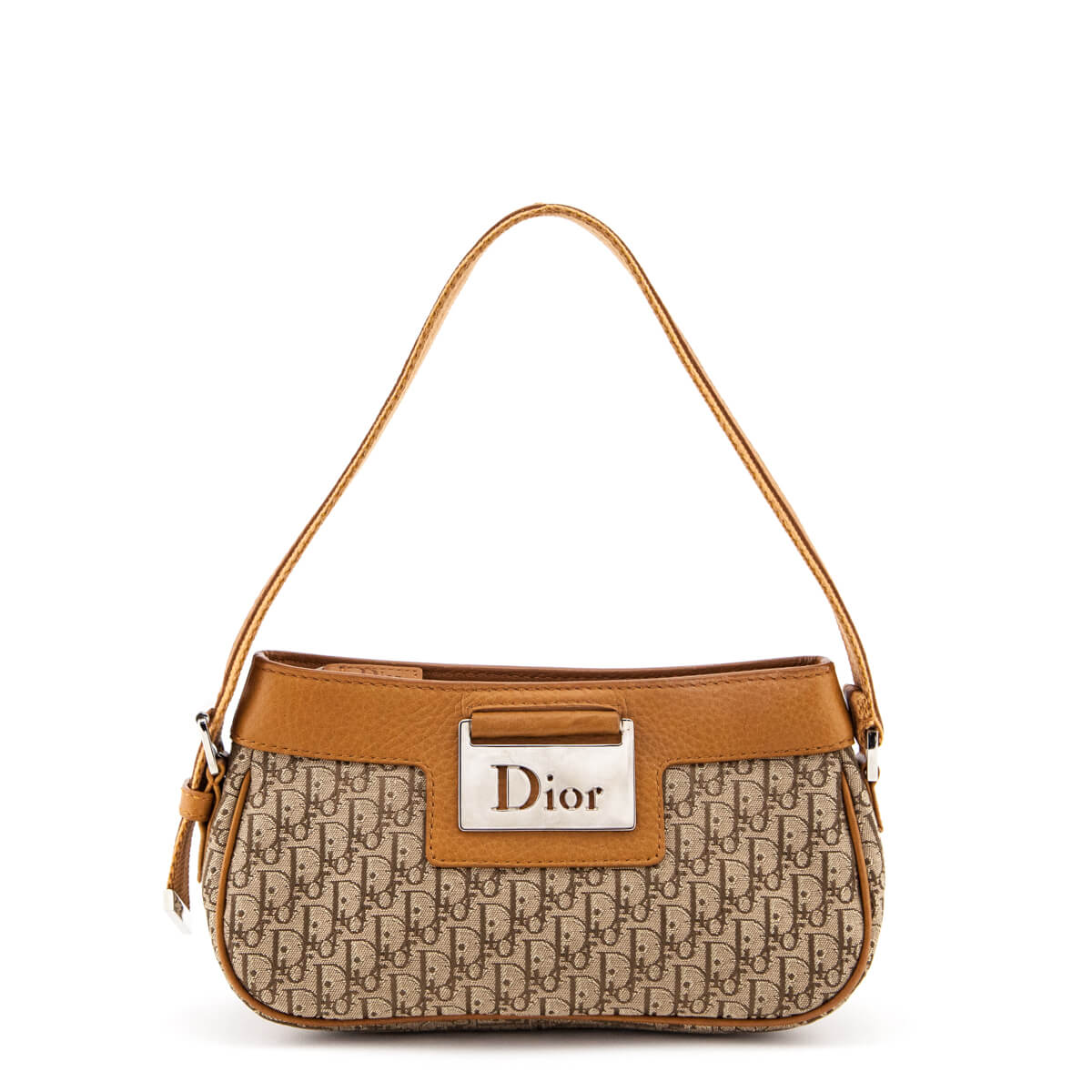 eb5ca11700 Dior Tan Diorissimo Leather-Trimmed Shoulder Bag - LOVE that BAG - Preowned  Authentic Designer ...