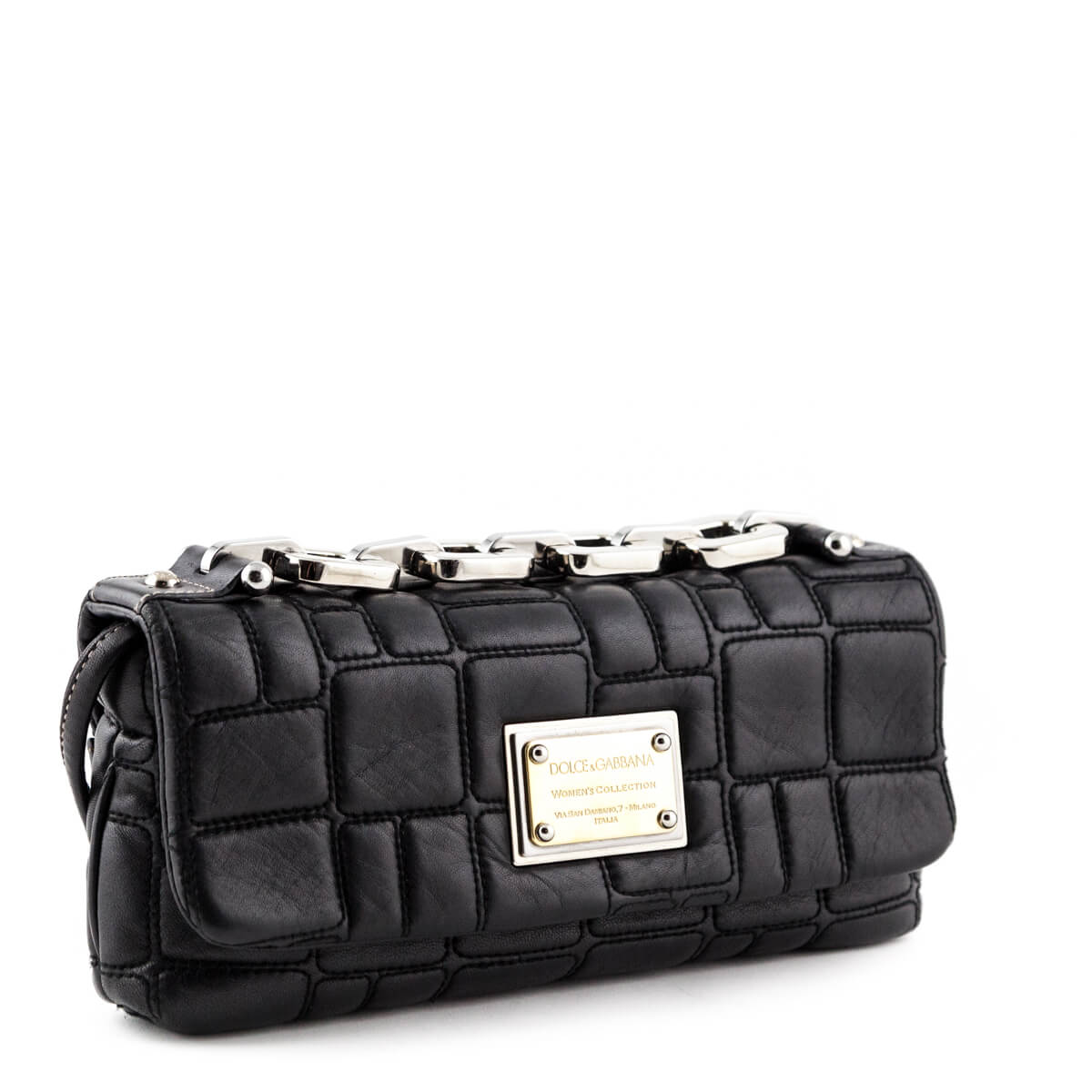 6bd25cccab ... Dolce   Gabbana Black Miss Deco Shoulder Bag - LOVE that BAG - Preowned  Authentic Designer ...