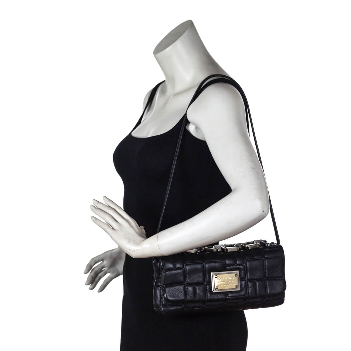 09c2a6501f ... Dolce   Gabbana Black Miss Deco Shoulder Bag - LOVE that BAG - Preowned  Authentic Designer