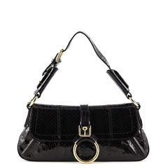 Dolce & Gabbana Black Snakeskin Shoulder Bag - 1