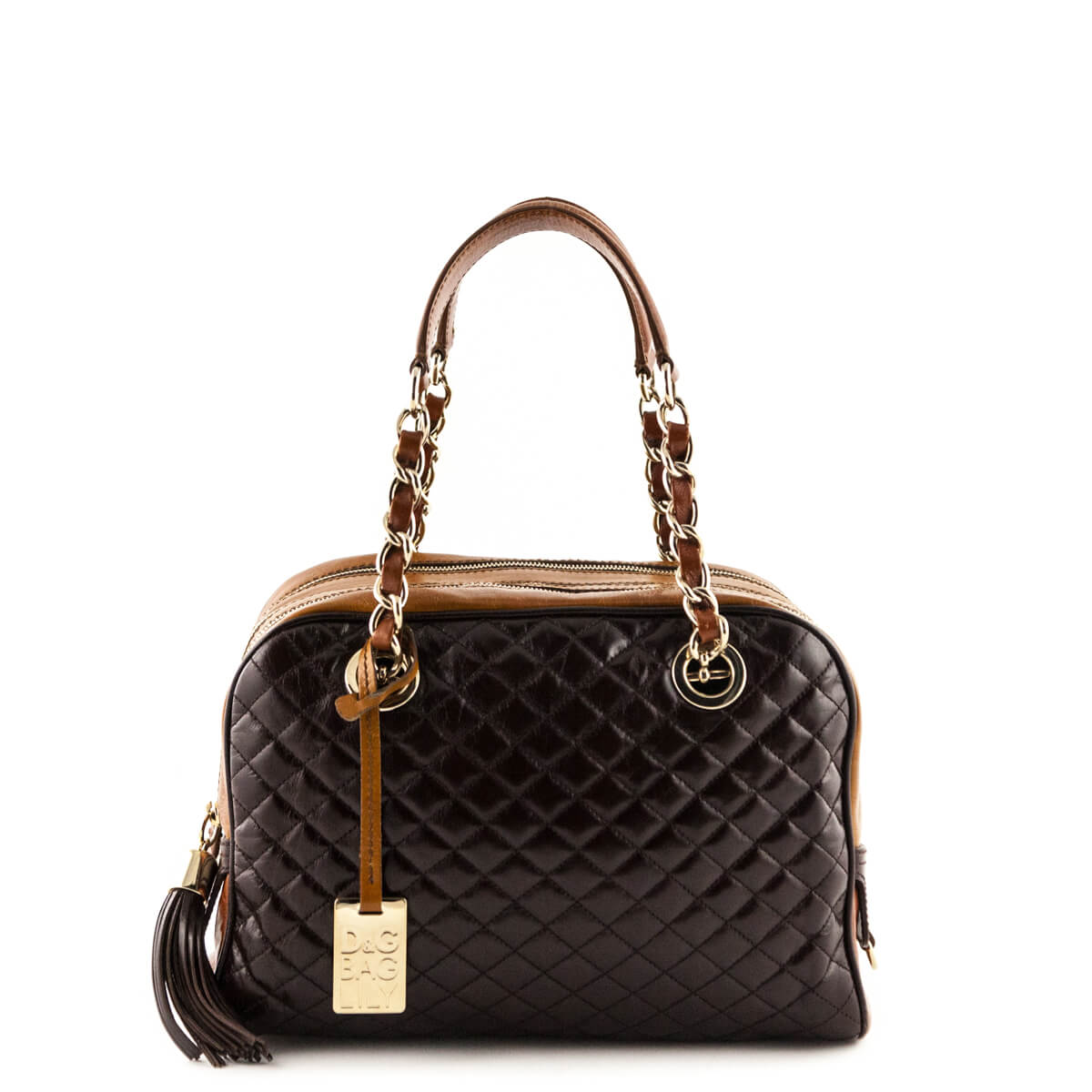 13a953577e1 Dolce   Gabbana Brown Calfskin Lily Bag - LOVE that BAG - Preowned  Authentic Designer Handbags ...