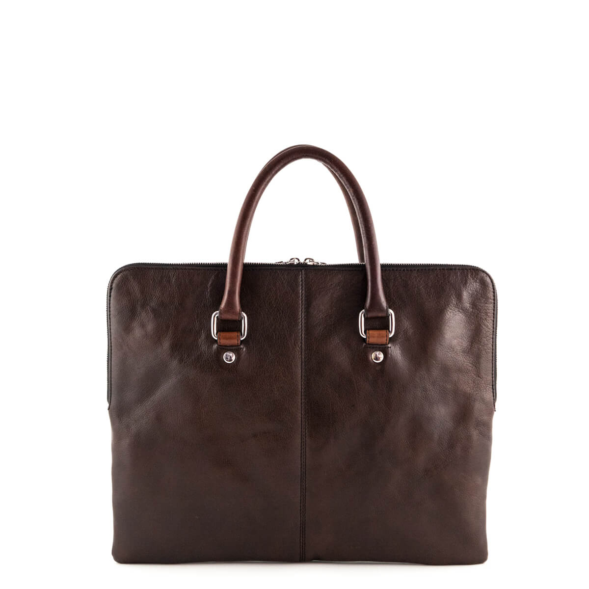 d16e3fbd352 ... Dolce and Gabbana Brown Leather Laptop Case - LOVE that BAG - Preowned  Authentic Designer Handbags ...