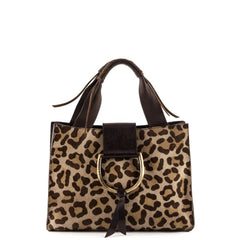 Dolce & Gabbana Brown Leopard Small Tote - 1